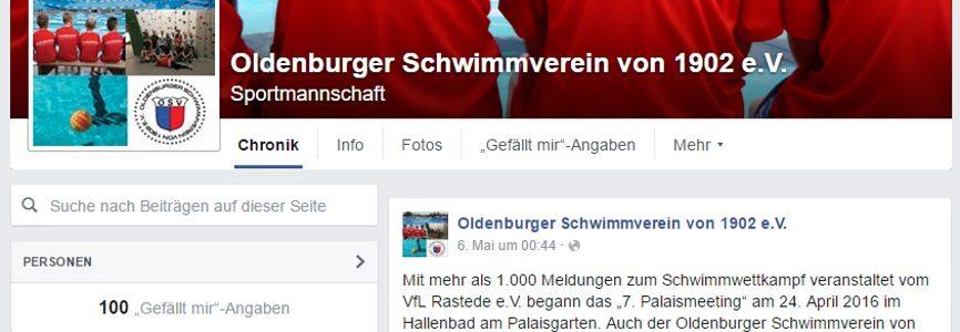 Danke für den 100sten Facebook-Like!